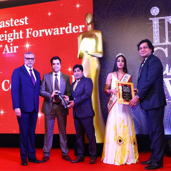 FASTEST GROWING AIR FREIGHT FORWARDER – INDIA CARGO AWARDS 2018